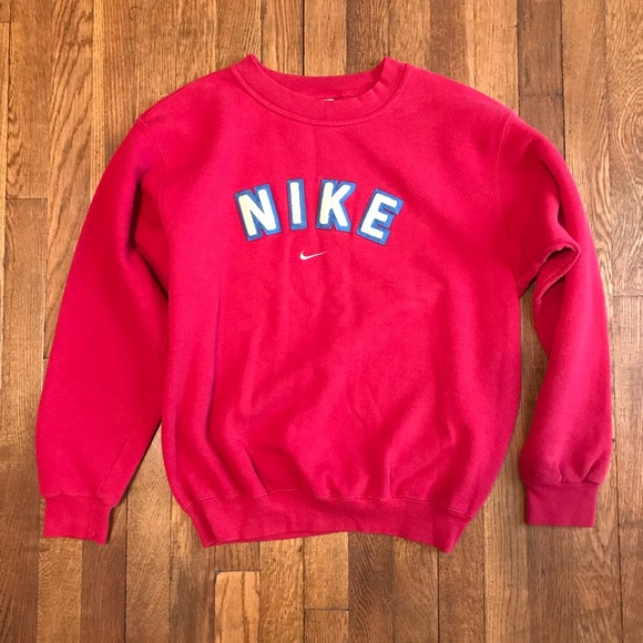 086a04afb2 Vintage NIKE SPELL-OUT LOGO Sweatshirt Sz S. M 5aa997f38290afe86f0fb227